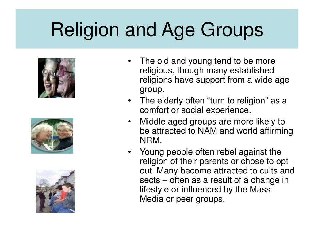 Religion and Age Groups