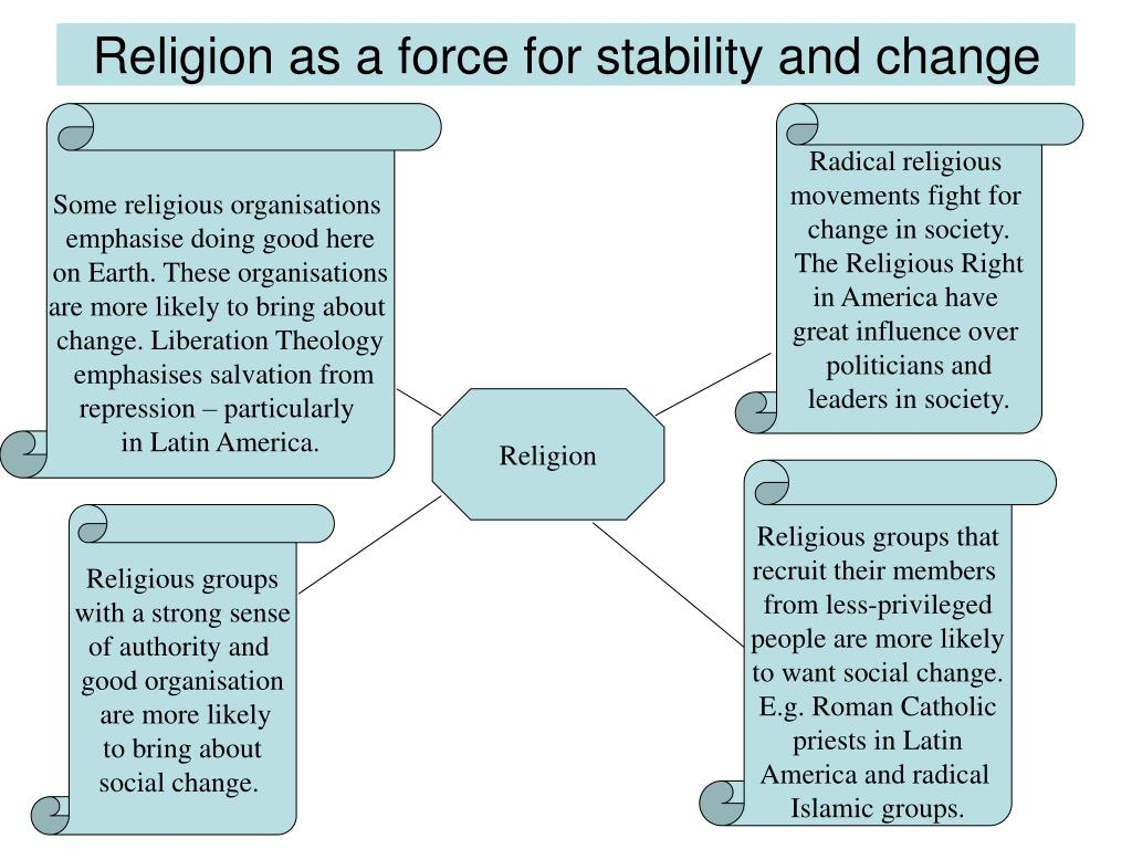 Religion as a force for stability and change