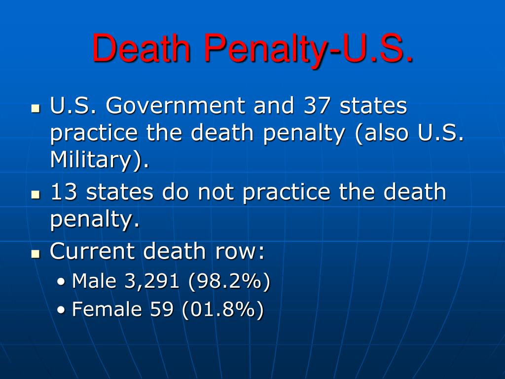 Death Penalty-U.S.