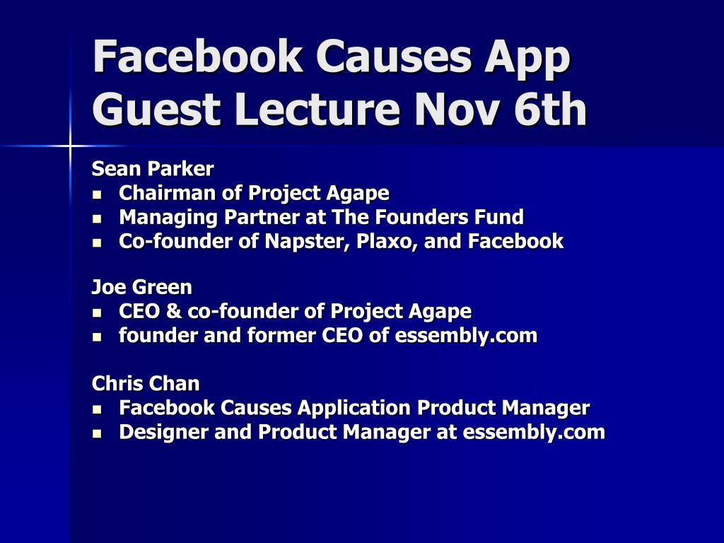 Facebook Causes App