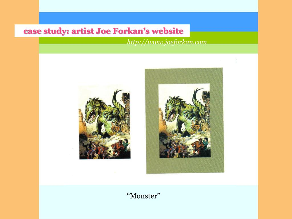 case study: artist Joe Forkan's website
