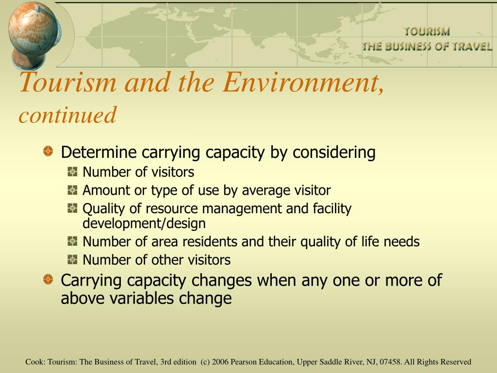 Tourism and the Environment,
