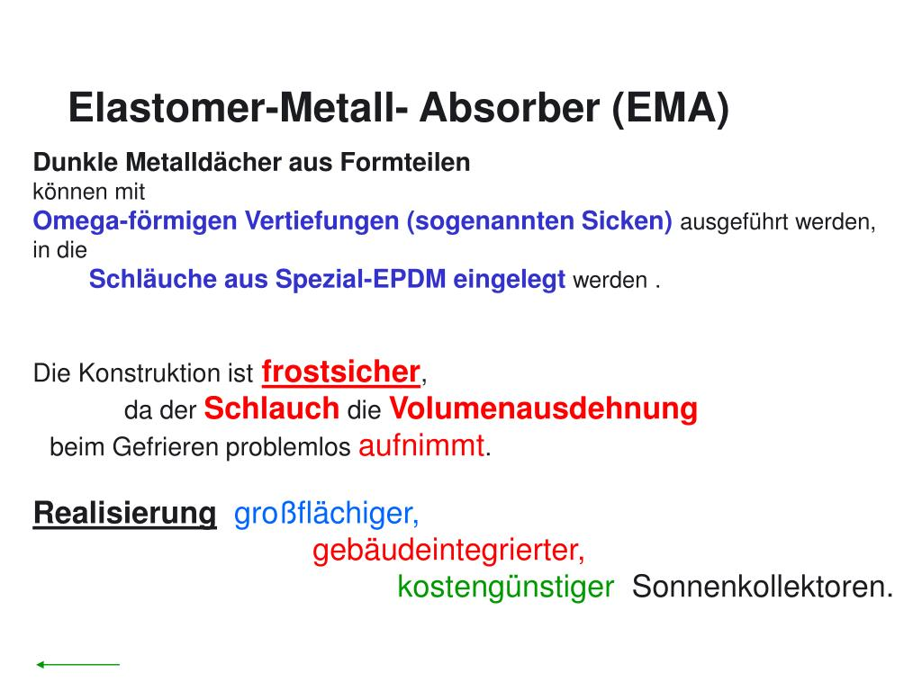 Elastomer-Metall- Absorber (EMA)