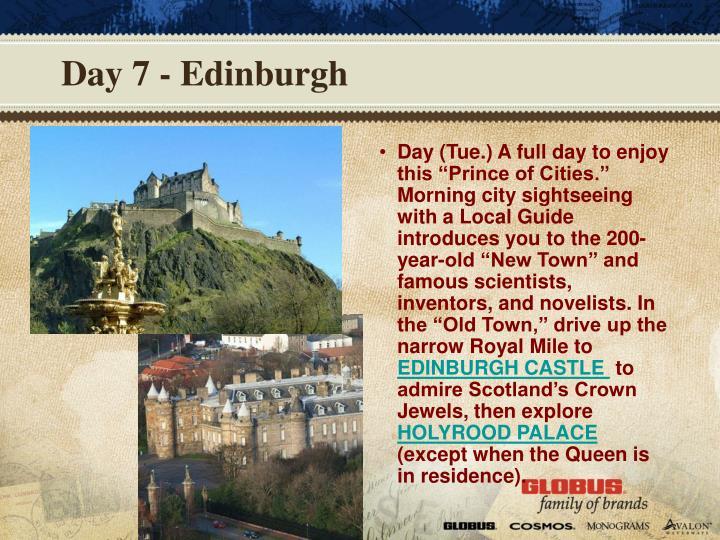 Day 7 - Edinburgh