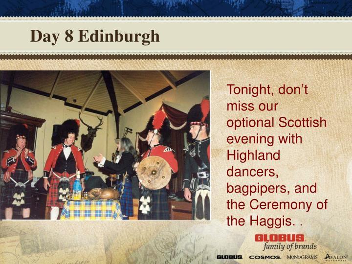Day 8 Edinburgh