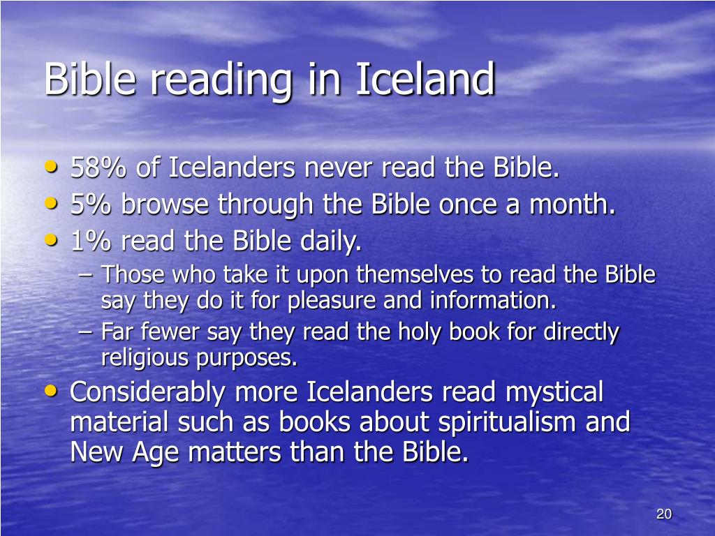 Bible reading in Iceland