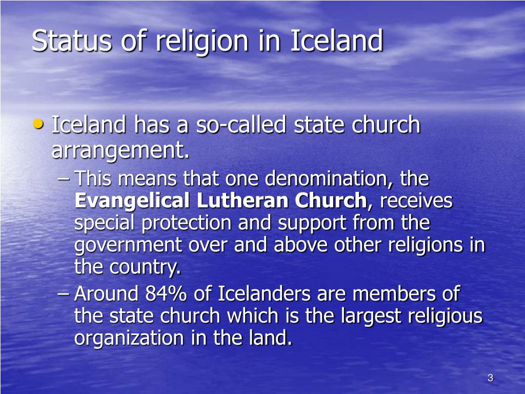 Status of religion in Iceland