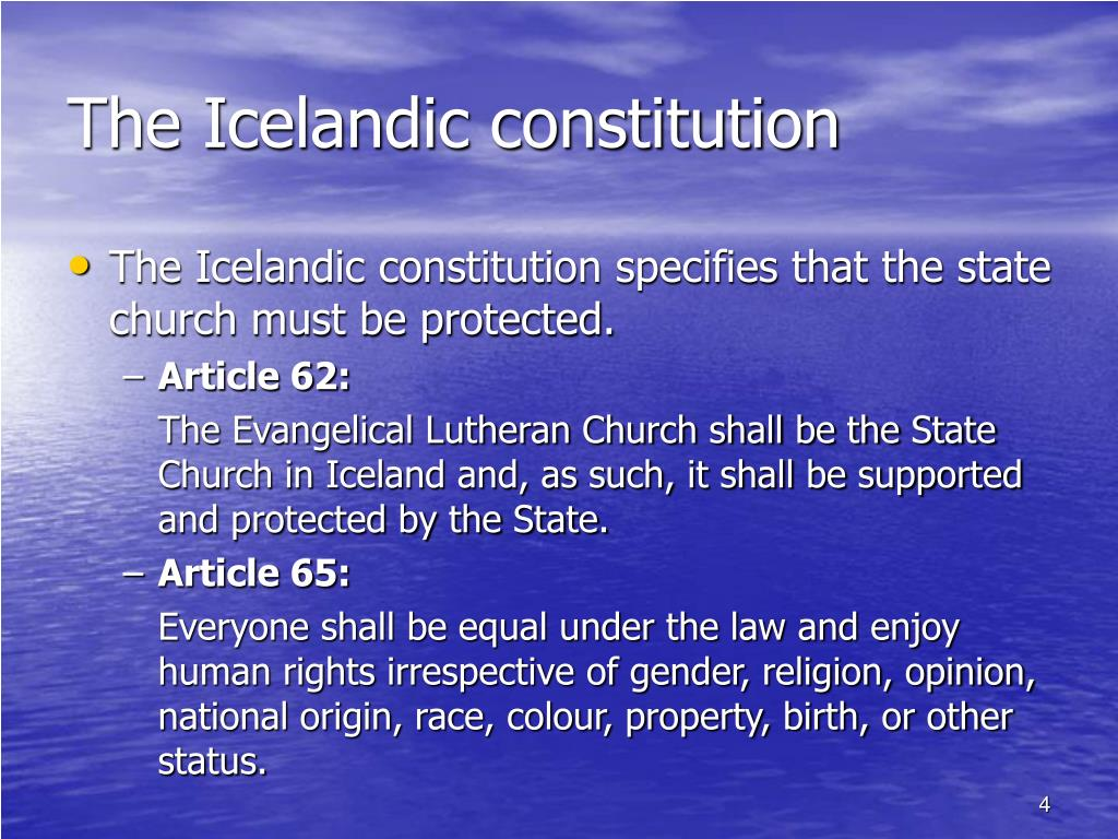 The Icelandic constitution
