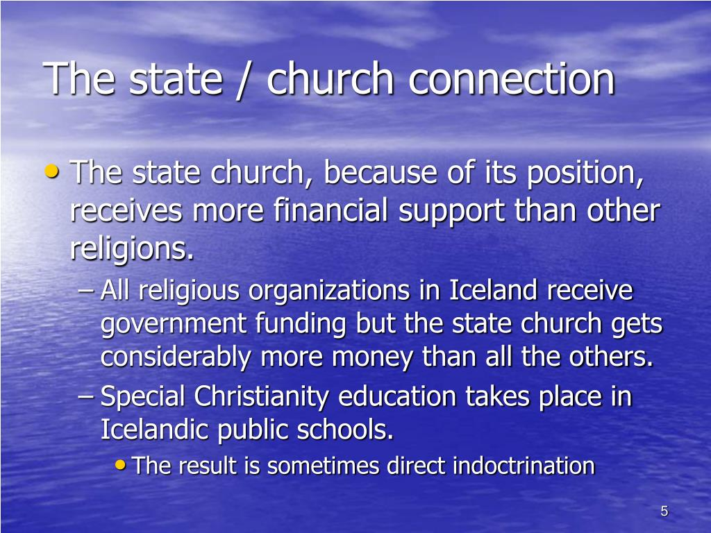 The state / church connection