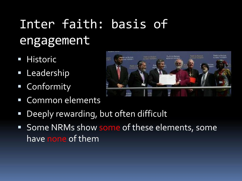 Inter faith: basis of engagement