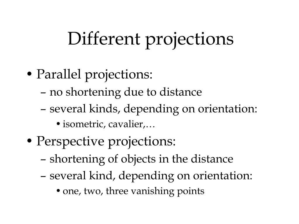 Different projections