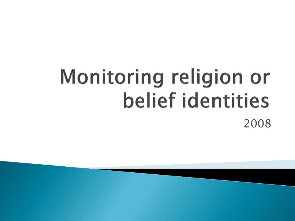 Monitoring religion or belief identities