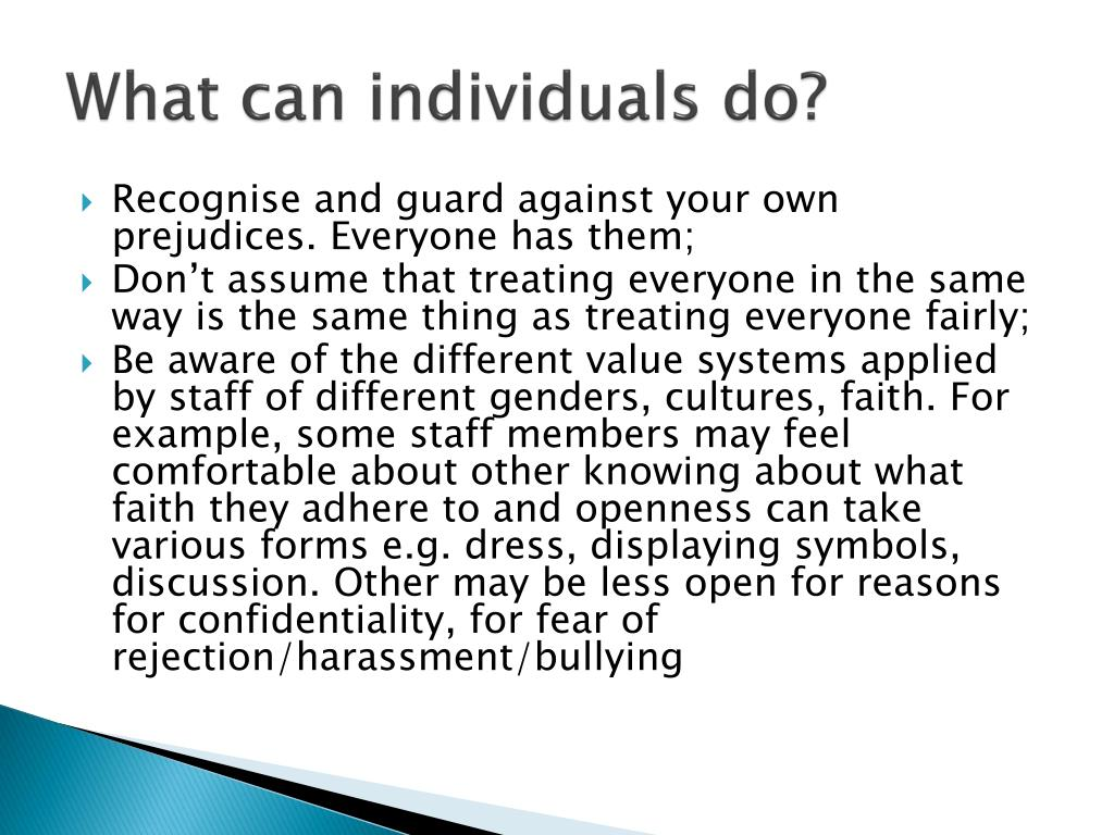 What can individuals do?