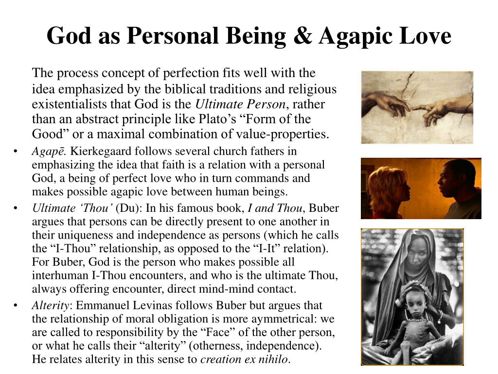 God as Personal Being & Agapic Love