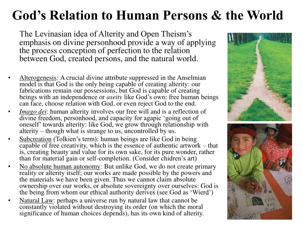 God's Relation to Human Persons & the World