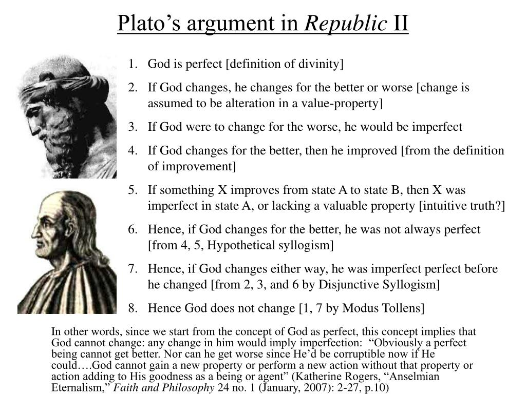 Plato's argument in