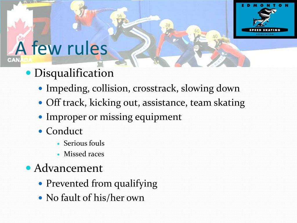A few rules