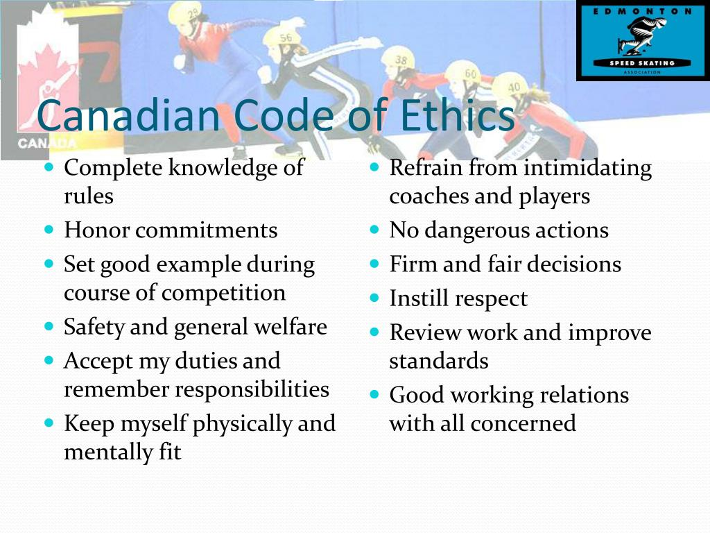Canadian Code of Ethics