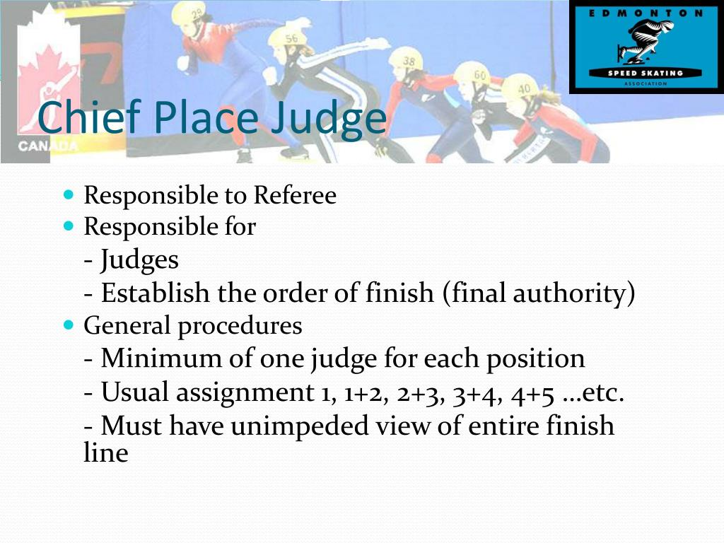 Chief Place Judge