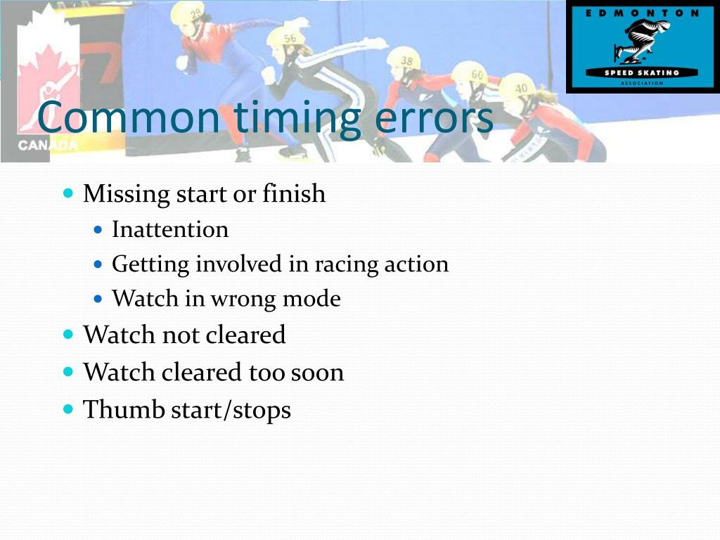 Common timing errors