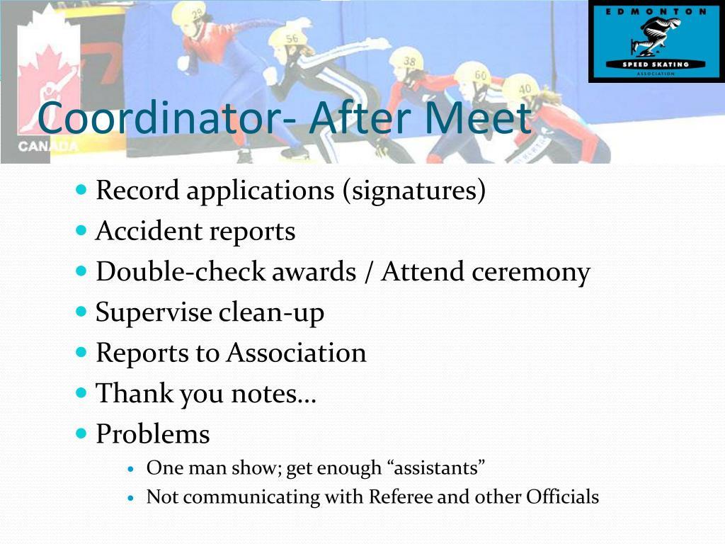 Coordinator- After Meet