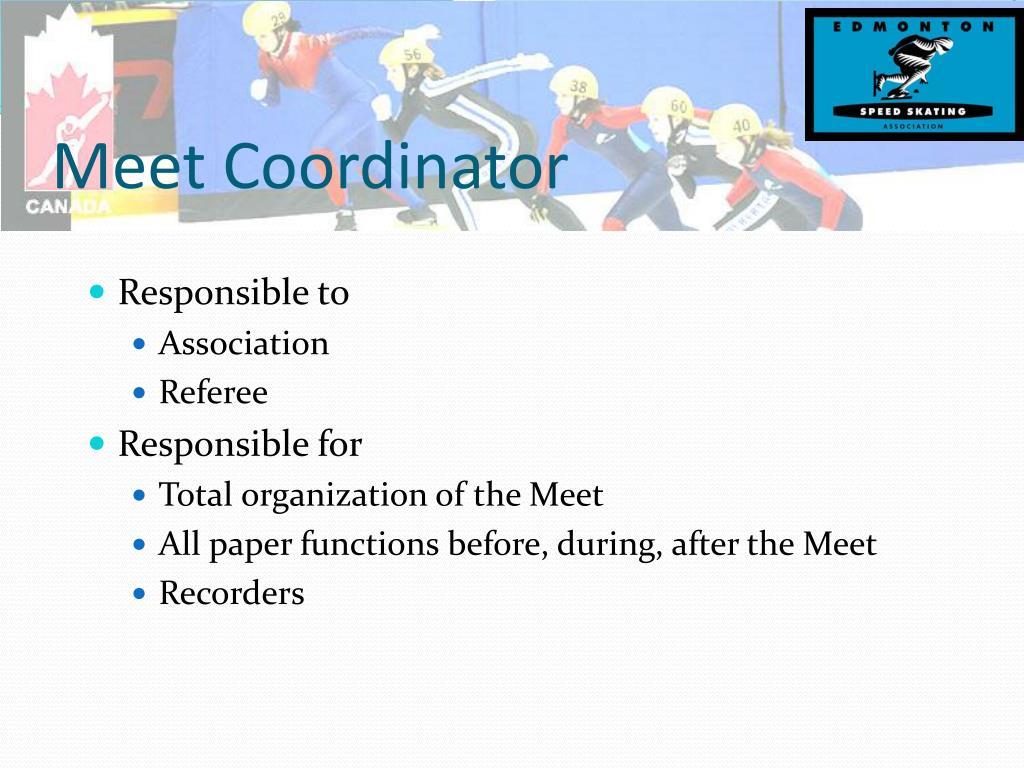 Meet Coordinator