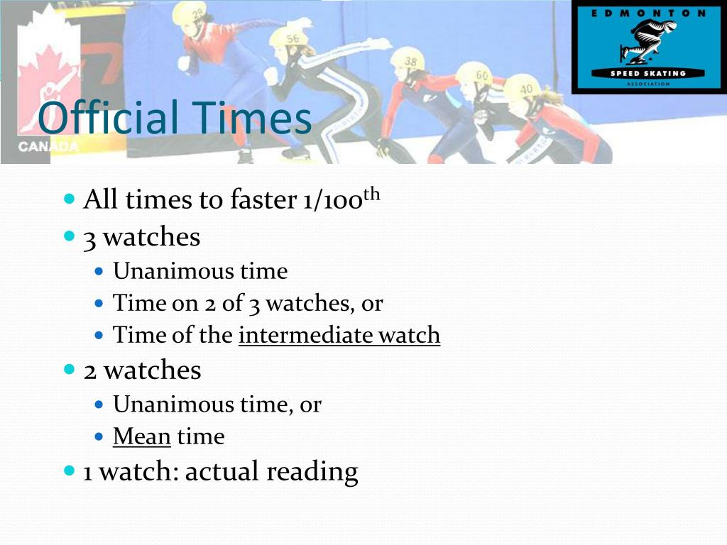 Official Times