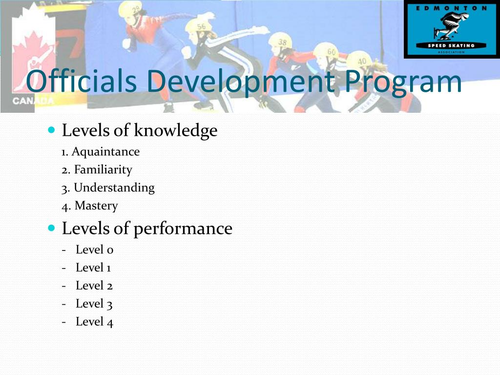 Officials Development Program