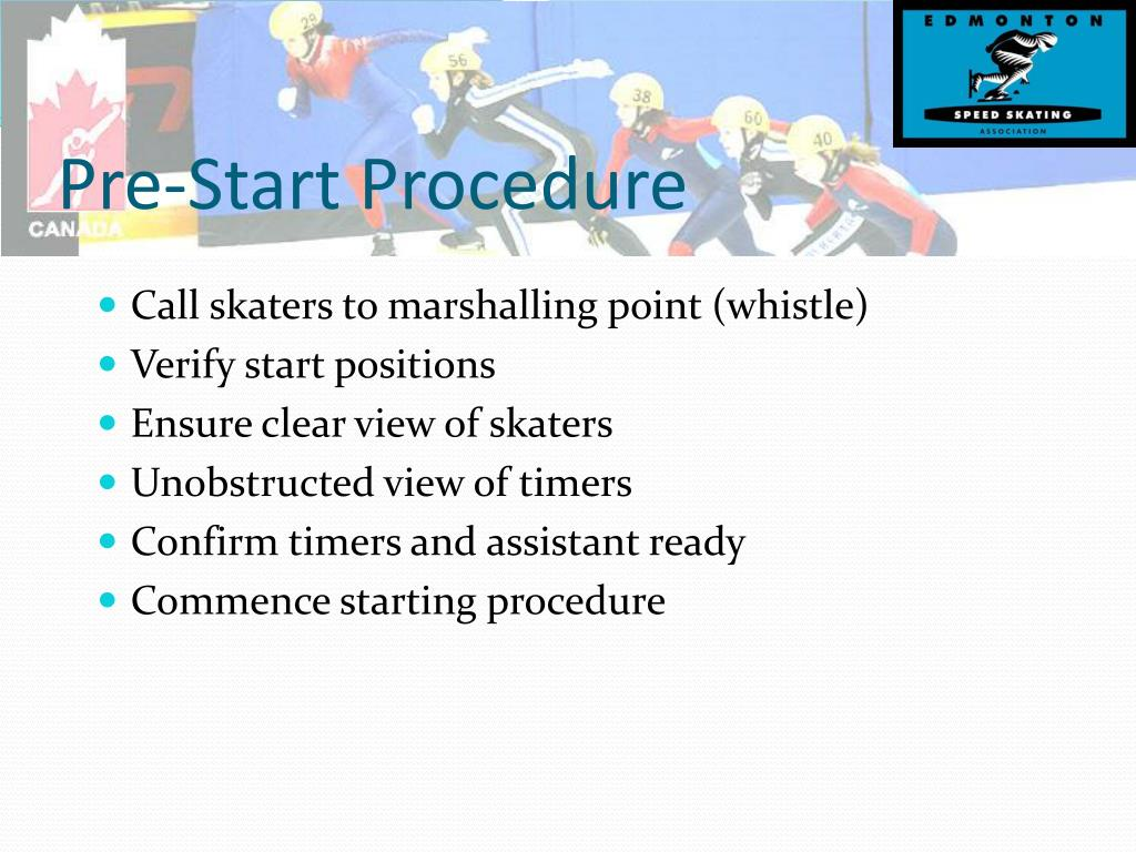 Pre-Start Procedure
