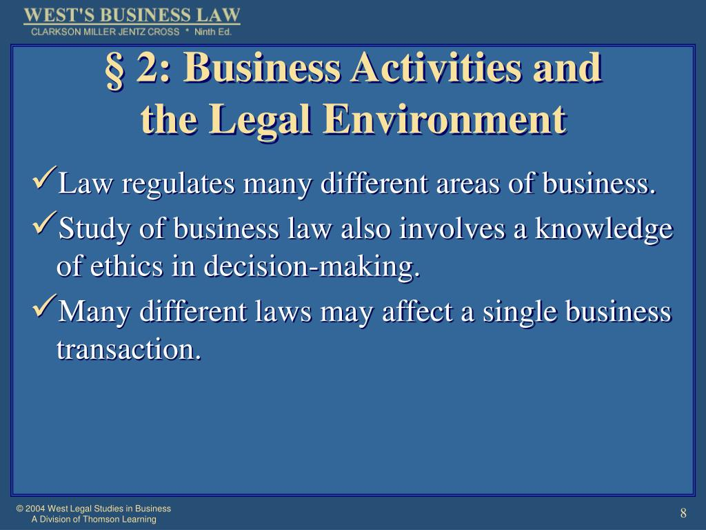 § 2: Business Activities and