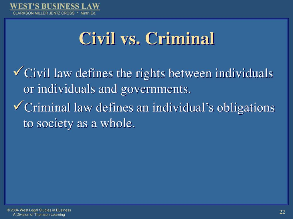 Civil vs. Criminal