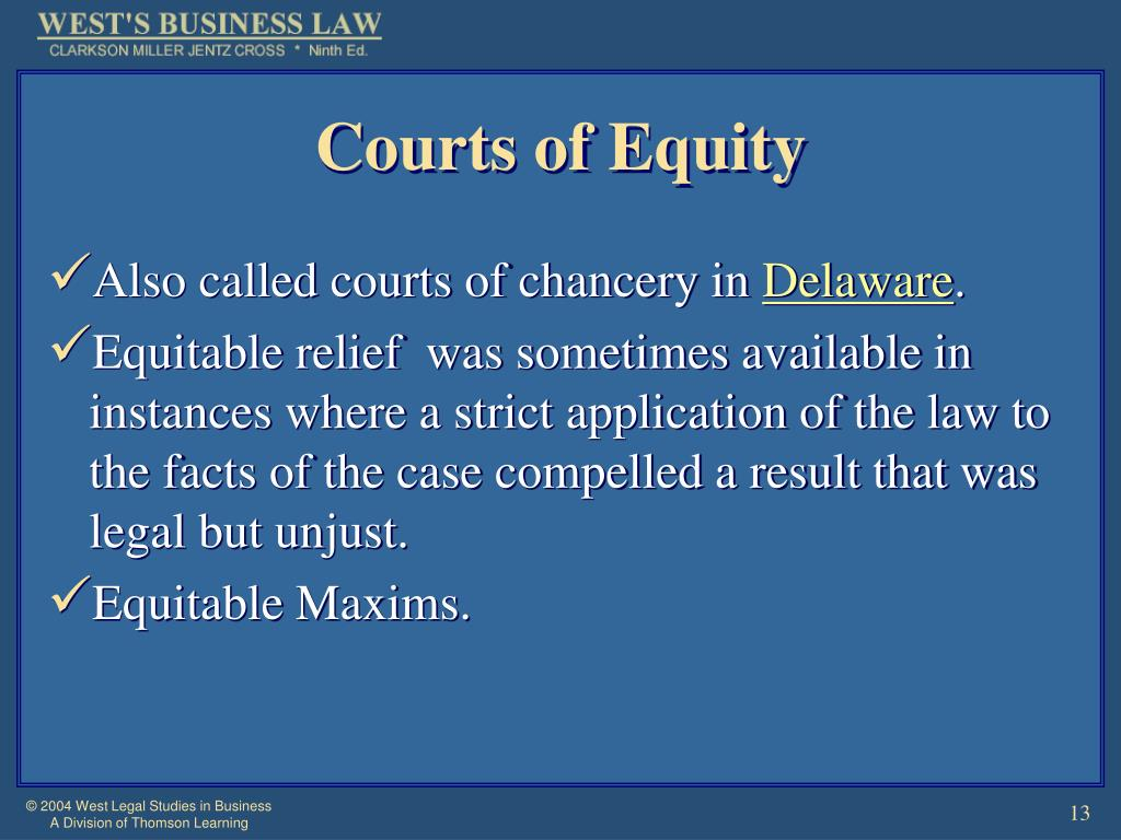 Courts of Equity