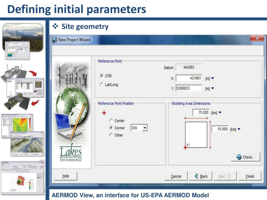 Defining initial parameters