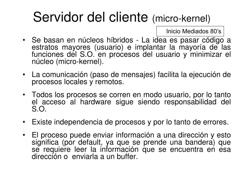 Servidor del cliente