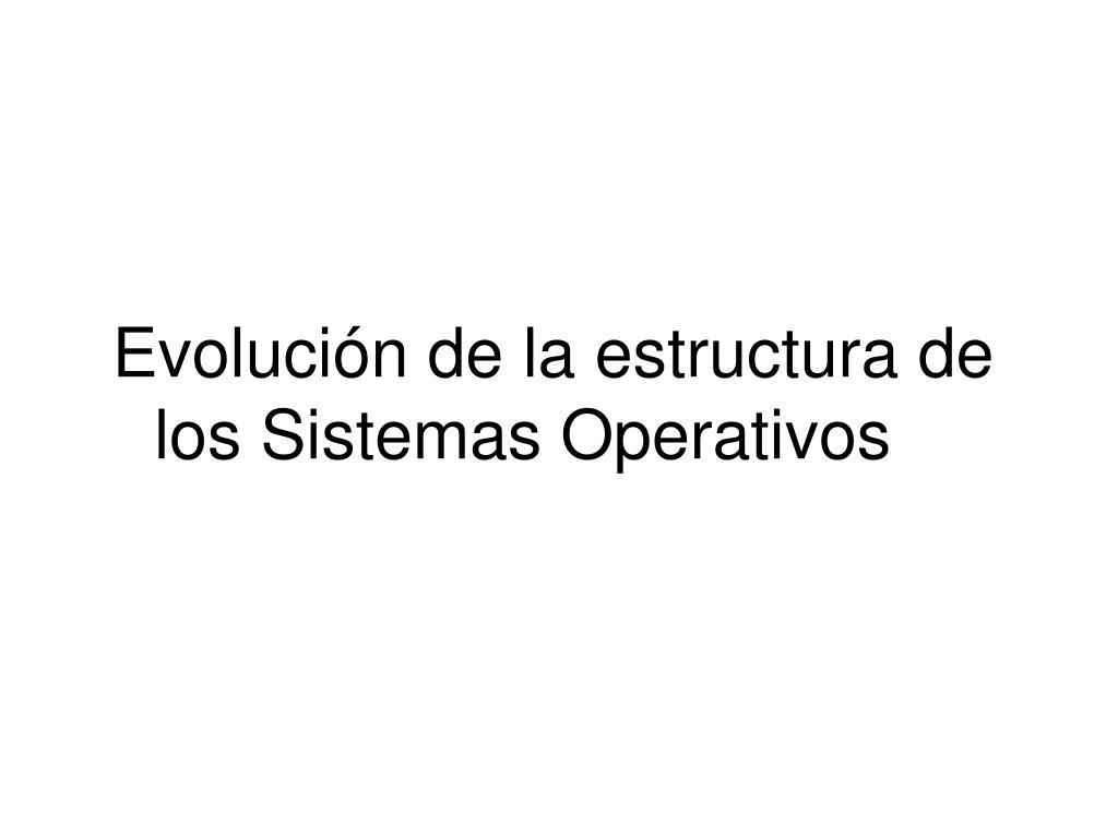 Evolución de la estructura de los Sistemas Operativos