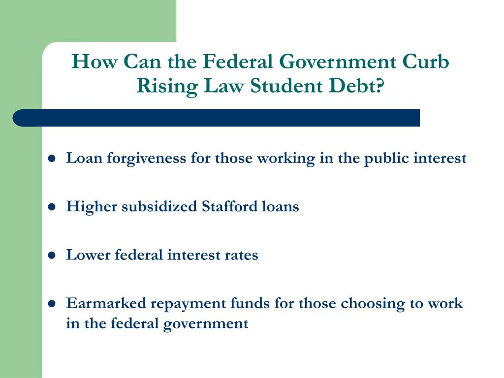 How Can the Federal Government Curb Rising Law Student Debt?