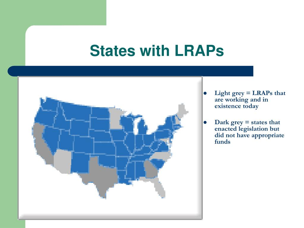 States with LRAPs