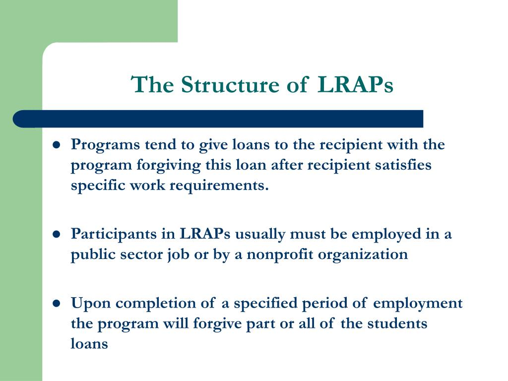 The Structure of LRAPs