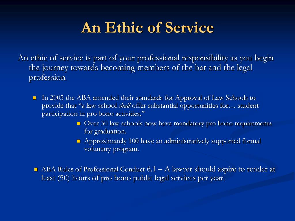 An Ethic of Service