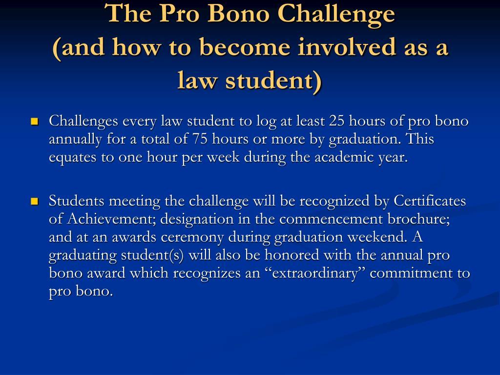 The Pro Bono Challenge