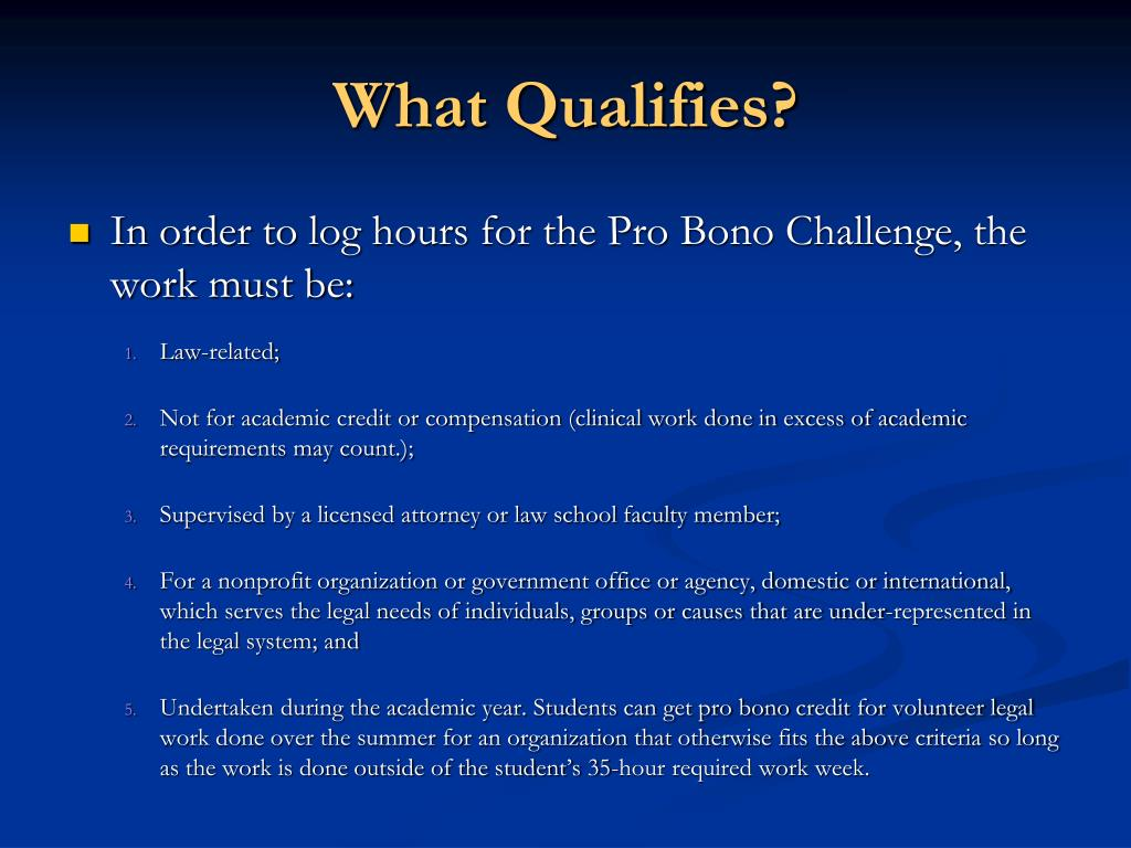 What Qualifies?