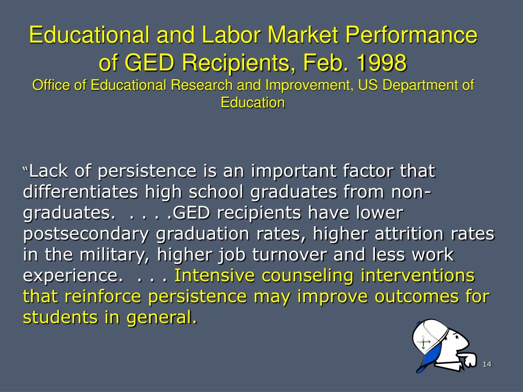 Educational and Labor Market Performance of GED Recipients, Feb. 1998