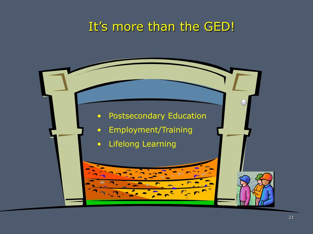 It's more than the GED!