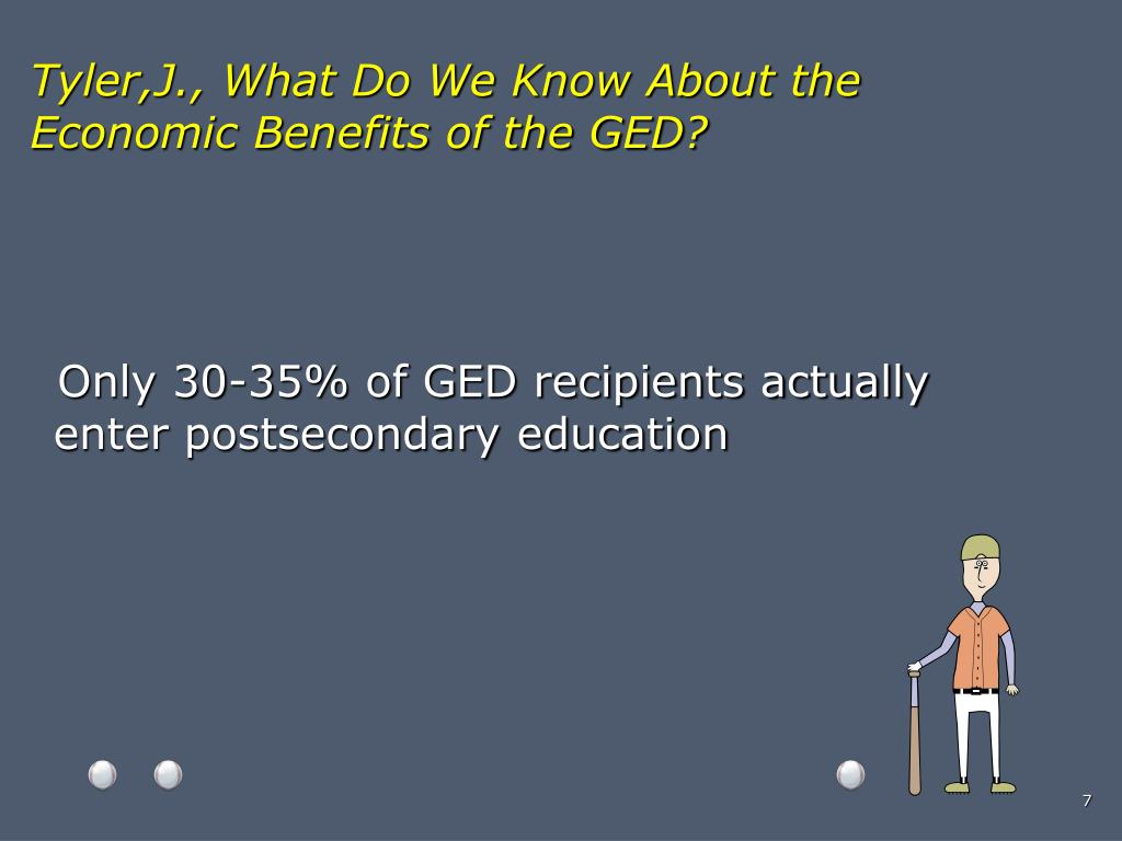 Tyler,J., What Do We Know About the Economic Benefits of the GED?