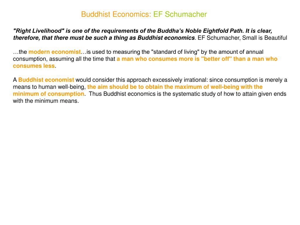Buddhist Economics: