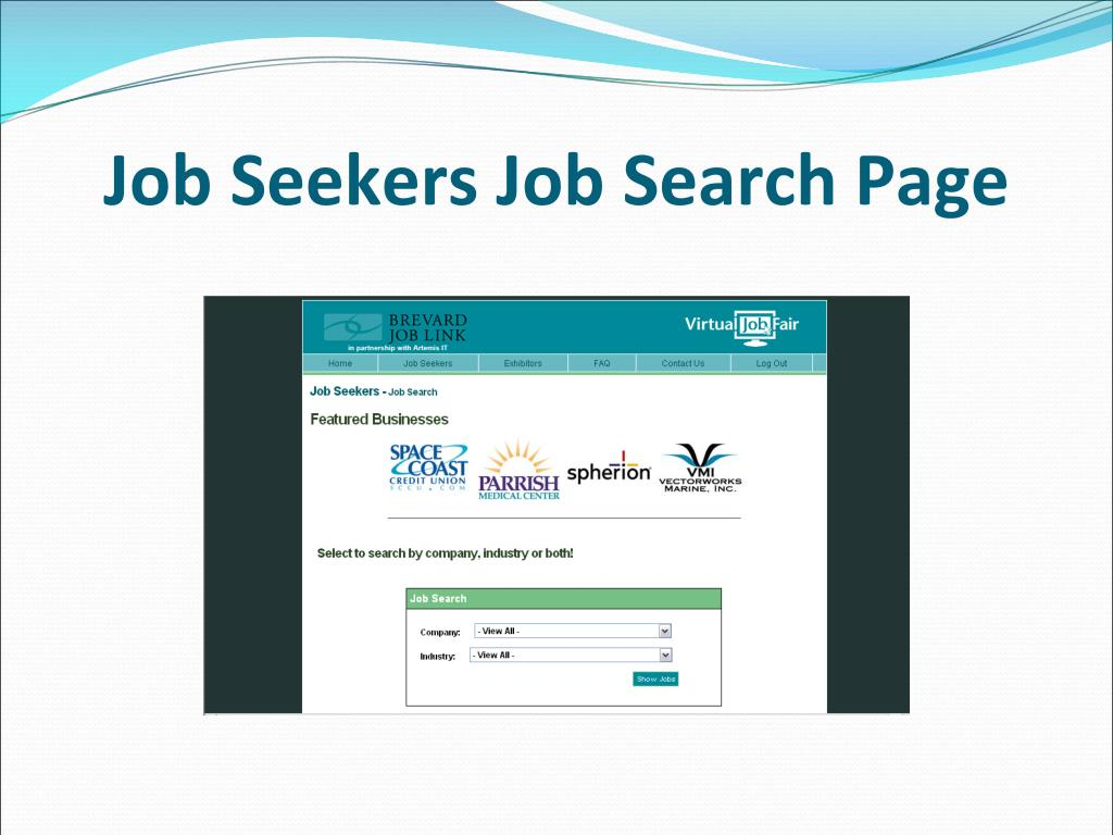 Job Seekers Job Search Page