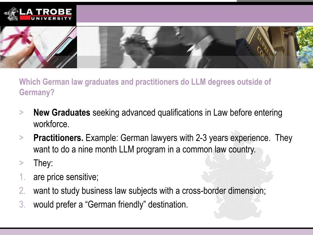 Which German law graduates and practitioners do LLM degrees outside of Germany?