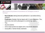 which german law graduates and practitioners do llm degrees outside of germany