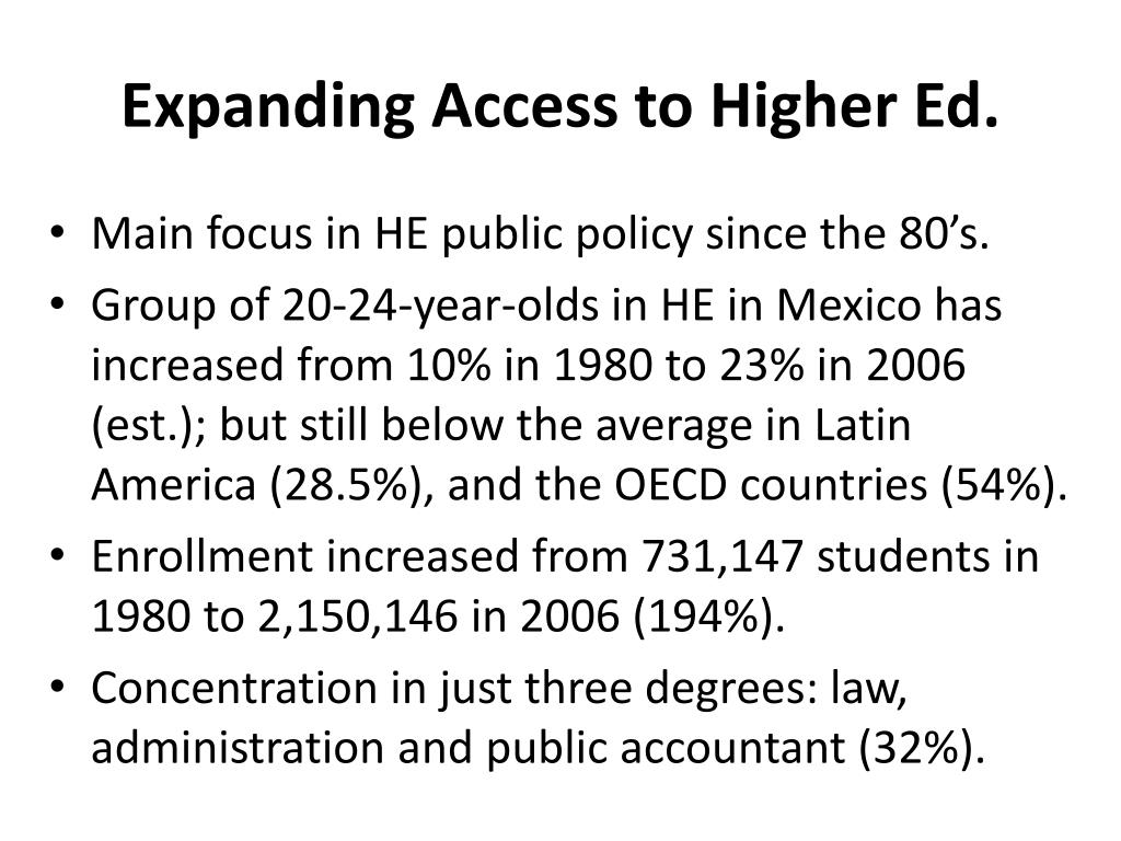Expanding Access to Higher Ed.