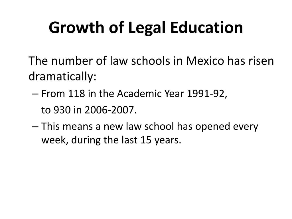 Growth of Legal Education